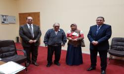 تكريم الطالبة / داليا على احمد - ثانية سياسية عربى