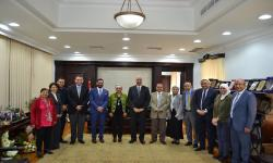 Cambridge delegation in Alexandria University